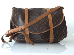 Louis Vuitton Crossbody Messenger Saddle Shoulder Bag