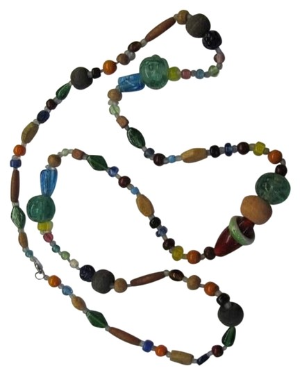 Preload https://img-static.tradesy.com/item/1145699/blue-green-red-gray-orange-yellow-tan-colorful-bead-necklace-0-0-540-540.jpg
