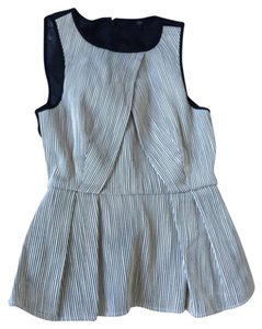 Tibi Top Black & white
