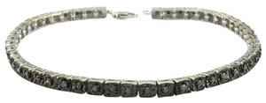 Neiman Marcus Black Diamond & Sterling Silver One Carat Tennis Bracelet