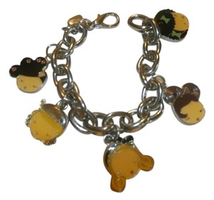 STAINLESS STEAL CHARMS GIRLS FACES CHAIN BRACELET