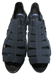 Donald J. Pliner Gladiator Style Elastic Black Sandals