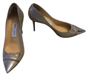 Jimmy Choo Glitter silver Pumps
