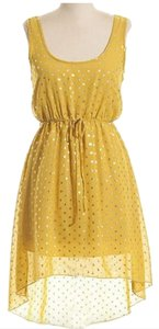 Coveted Clothing short dress Yellow/Gold Polka Dot Wedding Guest Yellow High Low Hi Lo on Tradesy