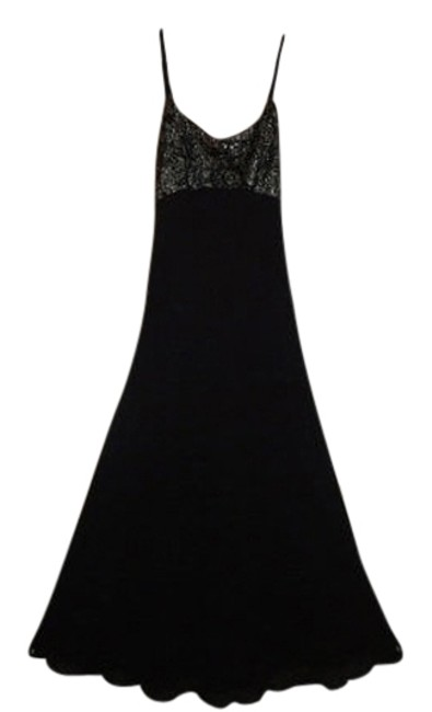 Item - Multicolor Black 34 Inch Bust 54 Inch Length Long Night Out Dress Size 6 (S)