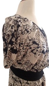 Anthropologie short dress Black beige on Tradesy