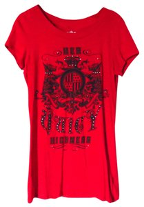 Juicy Couture Crystal Royal T Shirt Red