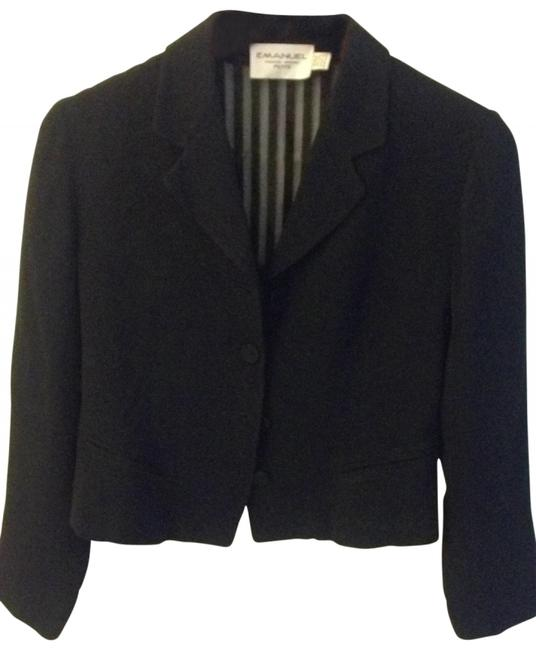 Preload https://img-static.tradesy.com/item/114587/emanuel-ungaro-black-with-lace-on-the-blazer-size-10-m-0-0-650-650.jpg