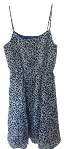 J.Crew short dress Blue and black floral on Tradesy