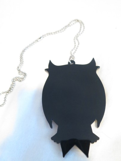Other Vintage Gold Plastic Owl Necklace With Ball Chain