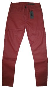 Black Orchid Denim Coated Brand New Straight Pants Oxblood