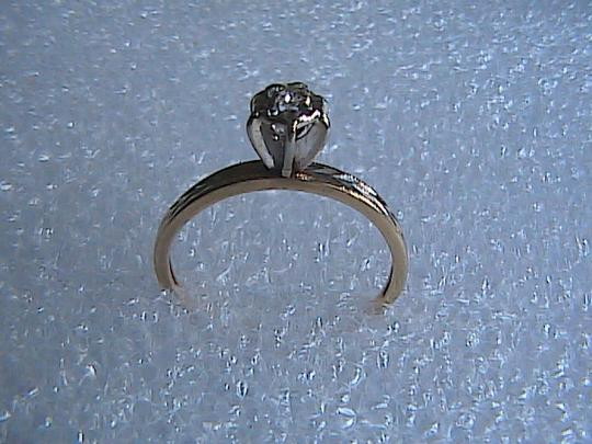 Other Vintage .05 cts 14k Solid Yellow Gold Diamond Engagement Ring