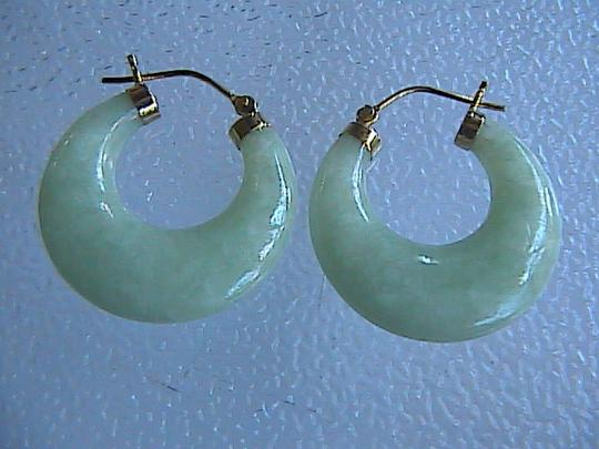 Other Vintage 14k Solid Yellow Gold Apple Green Jadeite Jade & Pearl Necklace Set