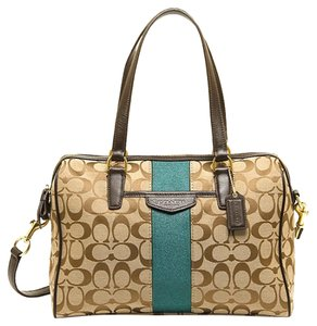 Coach Satchel in brown green