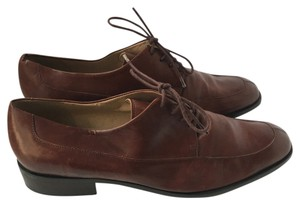Enzo Angiolini Designer Leather Oxford Brown Flats