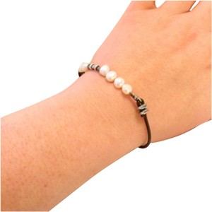 Silpada Sterling Silver and Pearl Leather Bracelet
