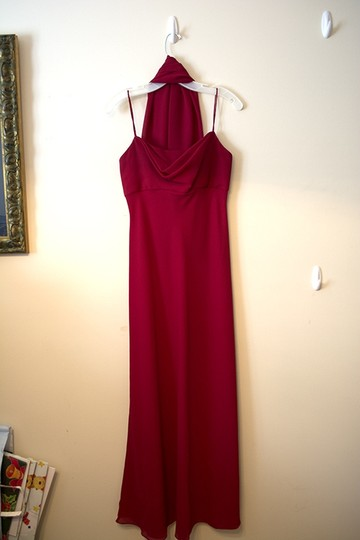 Red Holiday Christmas New Years Formal Bridesmaid/Mob Dress Size 4 (S)