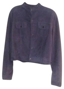 Ralph Lauren Black Label Blue suede Leather Jacket