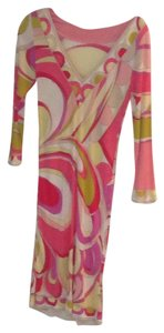 Emilio Pucci short dress Pink yellow print on Tradesy