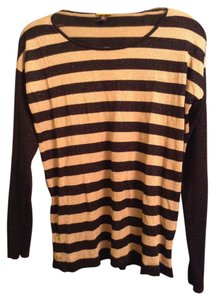 Dana Buchman 68% Rayon 20% Polyester 12% Metallic Top Black & Gold