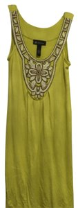 INC International Concepts short dress Yellow, white on Tradesy