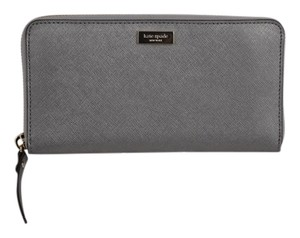 Kate Spade * Kate Spade Gray Metallic Zip Around Wallet