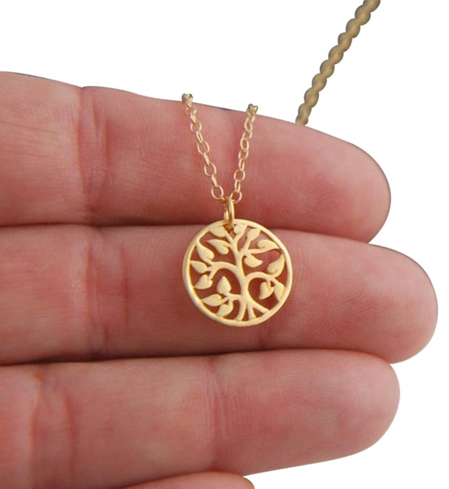 rose beaverbrooks gold and tree p large pendant white context