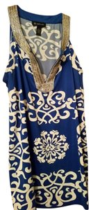 INC International Concepts Top Blue and white