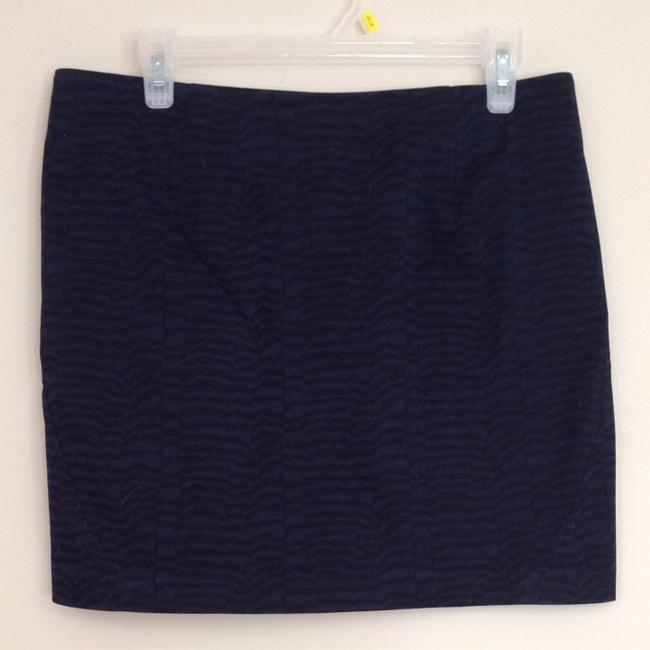 Gap Skirt Navy Zebra Print