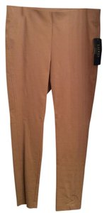 Lauren Ralph Lauren Stretch Pants Designer Tan Leggings