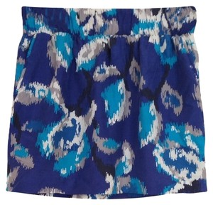 Ann Taylor LOFT Skirt Blue Patterned