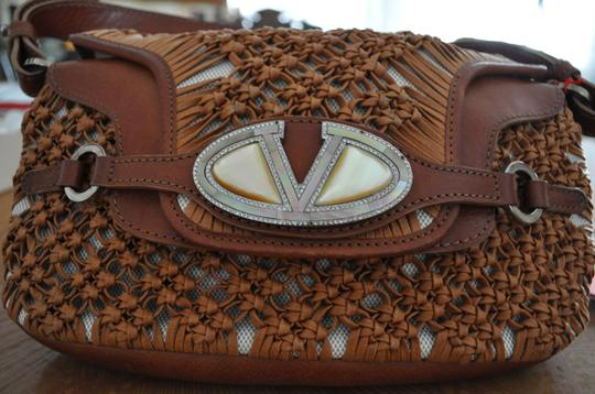 Preload https://item1.tradesy.com/images/valentino-knotted-coated-string-small-chestnut-baguette-114635-0-0.jpg?width=440&height=440