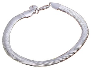 New 925 Sterling Silver Lovely Flat Soft Snake Bone Chain Bracelet 6mm