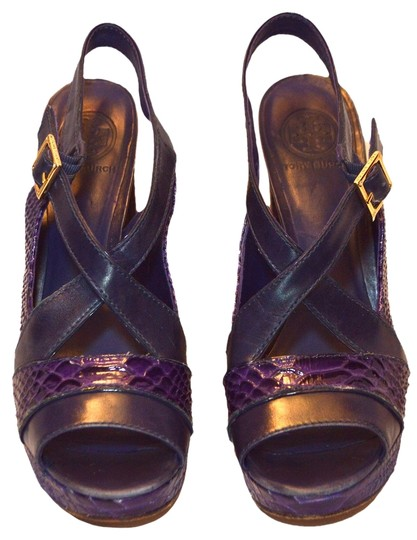 Tory Burch Purple / Navy Platforms