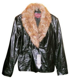 Marc Mattis Faux Fur Leather Man Made Brown Sexy Leather Jacket