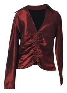 David Meister Top Dark red