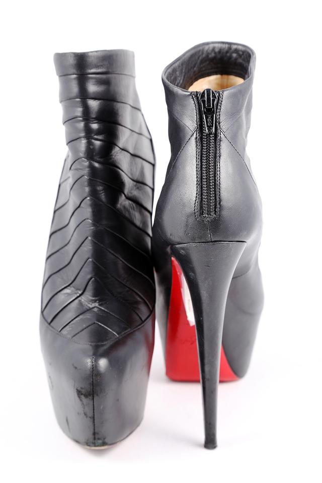 size 40 ebfb8 edeee Christian Louboutin Black * Amor Leather Platform Ankle Boots/Booties Size  US 9.5 Regular (M, B) 30% off retail