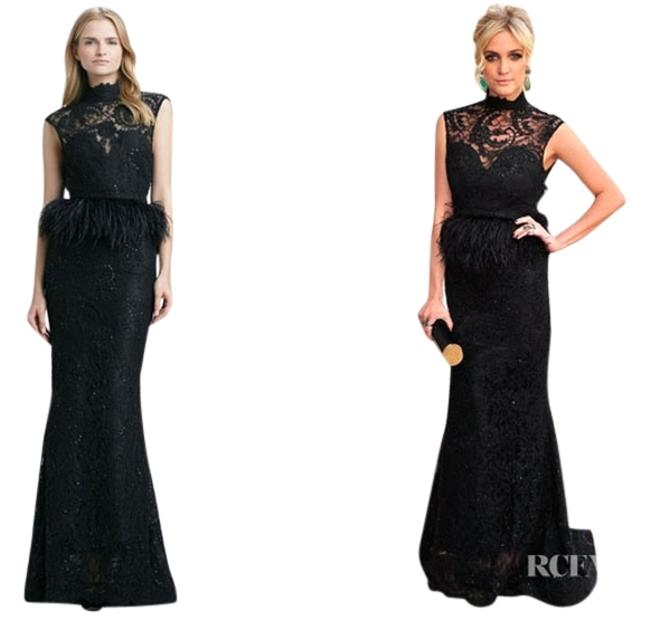 Preload https://item5.tradesy.com/images/alice-olivia-black-jessica-beaded-feather-peplum-gown-long-formal-dress-size-8-m-1146464-0-0.jpg?width=400&height=650