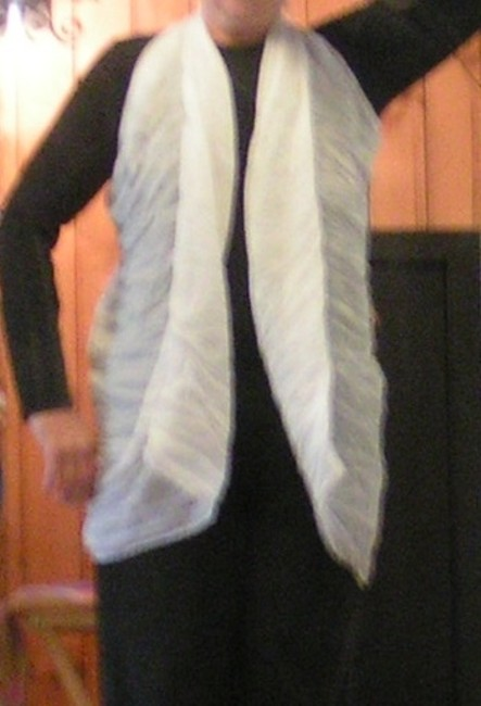 Item - White Cotton Soft Crinkle Versatile Scarf Free Shipping Modern Bridesmaid/Mob Dress Size OS (one size)