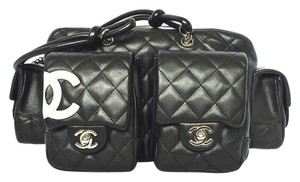 Chanel Cambon Qulted Reporter Shoulder Bag