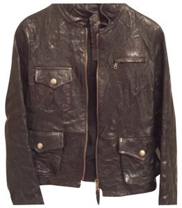 Patrizia Pepe Blac Leather Jacket