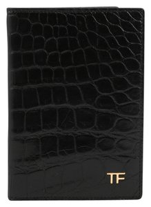 Tom Ford * Tom Ford Alligator Black Passport Wallet