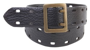 Gap Leather Belt in Black With Double Prongs - Size S