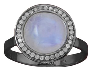 Sterling Collections Midnight Collection Round Halo Ring With Gray Diamonds (available sizes 5-9)