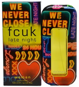 French Connection FCUK LATE NIGHT by FRENCH CONNECTION EDT Spray ~ 3.4 oz / 100 ml