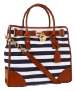 Michael Kors Satchel in Blue&white Stripes