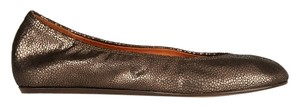 Lanvin Embossed Bronze Calf Leather Flats
