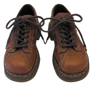 Dr. Martens Size Us 5.00 M Leather Light Brown Flats
