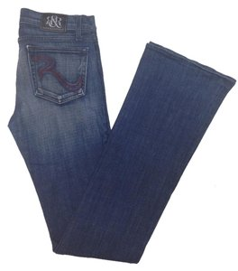 Rock & Republic & Red Extra Long Medium Wash Flare Leg Jeans-Medium Wash