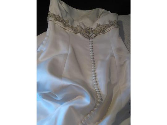 Rivini Shades Of Ivory Silk Satin Formal Wedding Dress Size 6 (S)